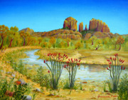 Cathedral Rock Paintings - Sedona Arizona by Jerome Stumphauzer