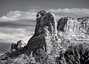 Gregory Dyer - Sedona Arizona Mountain Peak - Black and White