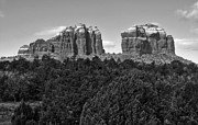 Sedona Arizona Mountains - Black And White Print by Gregory Dyer