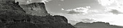 Sedona Arizona Mountains Black And White Panorama Print by Gregory Dyer