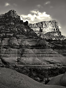 Sedona Arizona Mountains In Black And White - 02 Print by Gregory Dyer