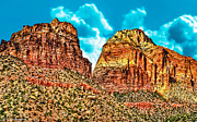 Hiking Mixed Media Posters - Sedona Arizona Secret Mountain Wilderness Poster by Nadine and Bob Johnston