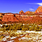 Oak Creek Digital Art Framed Prints - Sedona Arizona Secret Mountain Wilderness Framed Print by Nadine and Bob Johnston