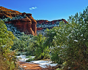 National Mixed Media Prints - Sedona Arizona - Wilderness Area Print by Nadine and Bob Johnston