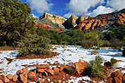 Oak Creek Digital Art Prints - Sedona Arizona - Wilderness Print by Nadine and Bob Johnston