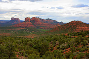 Red Mountains Prints - Sedona Print by Carol Groenen