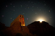 Sedona Chapel Moonrise Vortex Print by Mike Berenson