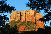 Oak Creek Digital Art Posters - Sedona Courthouse Butte  Poster by Eva Kaufman