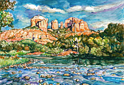 Cathedral Rock Paintings - Sedona Mysterious by Claire Viger