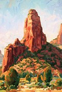 Impressionism Originals - Sedona Pinnacle by Kevin  McCain