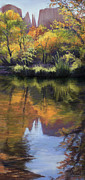 Cathedral Rock Paintings - Sedona Reflections by Vicky Russell