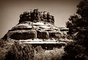 Rimrock Photos - Sedona Rimrock Sepia by Chalet Roome-Rigdon