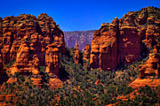 Sandstone Canyons Photos - Sedona Rock Formations II by David Patterson