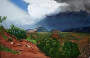 Featured Pastels Metal Prints - Sedona Storm Metal Print by Michele Turney