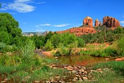 Red Rock Crossing Framed Prints - Sedona Summer Framed Print by Miles Stites