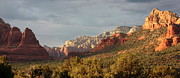 Red Rocks Photos - Sedona Sunshine Panorama by Carol Groenen