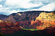Landscape Glass Framed Prints - Sedona Valley  Framed Print by Gilbert Artiaga
