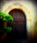 Entryway Prints - Sedonas Tlaquepaque Print by Barbara Chichester