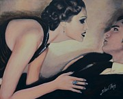 Black Tie Painting Posters - Seduction Poster by Shirl Theis