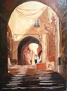 Jerusalem Painting Metal Prints - Seductive Arches Metal Print by Betty M M   Wong