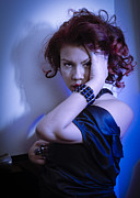 Photo . Portrait Posters - Seductively Blue  Poster by Drew Castelhano