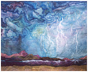 Storm Tapestries - Textiles Metal Prints - See It Coming Metal Print by Zoe Scroggs