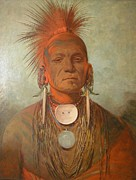 Western Western Art Prints - See No Ty A An Iowa Medicine Man Print by George Catlin