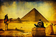 Story Digital Art - See The Pyramids - Egyptian Adventure by Mark E Tisdale