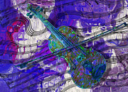 Fiddle Digital Art - See The Sound 3 by Jack Zulli