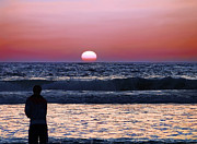 Oceanfront Metal Prints - See the Sun Set Metal Print by Camille Lopez