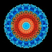 Kaleidoscope Prints - Seeing Mandala 1 - Spiritual Art By Sharon Cummings  Print by Sharon Cummings