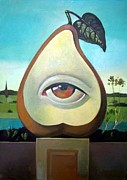 Original For Sale Framed Prints - Seeing Pear Framed Print by Filip Mihail