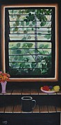 Usha Rai Framed Prints - Seeing through the window Framed Print by Usha Rai