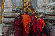 Worship Photo Originals - Seeking Blessings of Budha by Mukesh Srivastava