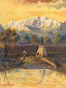 Teepee Prints - Seeking the Divine Print by Jeff Brimley