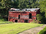 Red Roofed Barn Metal Prints - Seen Better Days Metal Print by Jaci Hanson