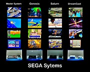 Vintage Video Game Prints - Sega Systems Print by Benjamin Yeager