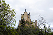 True Cross Metal Prints - Segovia Alcazar Treehouse Metal Print by Lorraine Devon Wilke