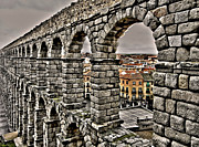 Grey Clouds Photos - Segovia Aqueduct - Spain by Juergen Weiss
