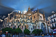 Cathedral Digital Art - Segovia Cathedral  by Angel Jesus De la Fuente