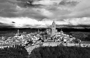 True Cross Metal Prints - Segovia In Black and White Metal Print by Lorraine Devon Wilke