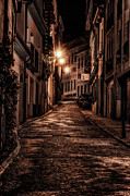 Streetlights Prints - Segovia PreDawn Print by Joan Carroll