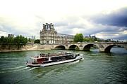 Seine River And Louvre Museum. Paris. France. Print by Bernard Jaubert