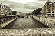 Grey Clouds Photo Originals - Seine by Sergey Simanovsky