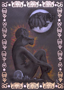 Hathor Metal Prints - Sekhmet and Bastet Metal Print by Diana Perfect