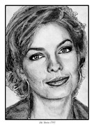 Closeups Drawings Posters - Sela Ward in 1990 Poster by J McCombie