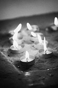 Flame Light Prints - Selection Of Candles As An Offering In A Church Print by Joe Fox