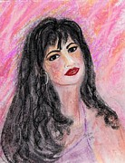 Pink And Lavender Prints - Selena Print by Desline Vitto