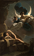 Famous Artists - Selene and Endymion by Ubaldo Gandolfi
