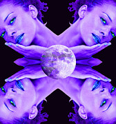 Warrior Goddess Digital Art Prints - Selene Moon Goddess Print by Matthew Lacey
